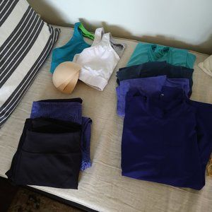 BUNDLE OF WORKOUT CLOTHES - GENTLY USED/BARELY USE